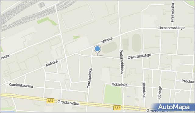 Warszawa, Stanisławowska, mapa Warszawy