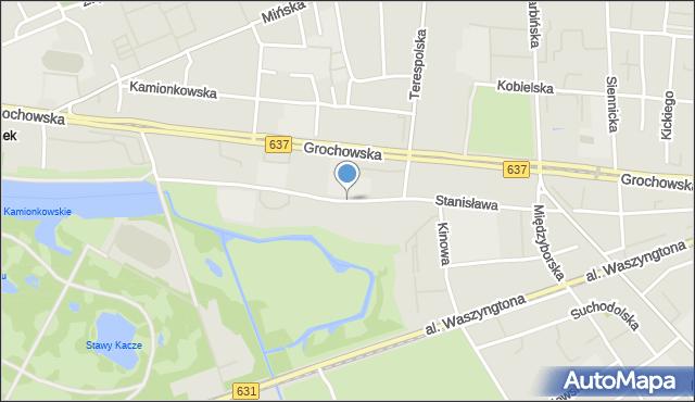 Warszawa, Stanisława Augusta, mapa Warszawy