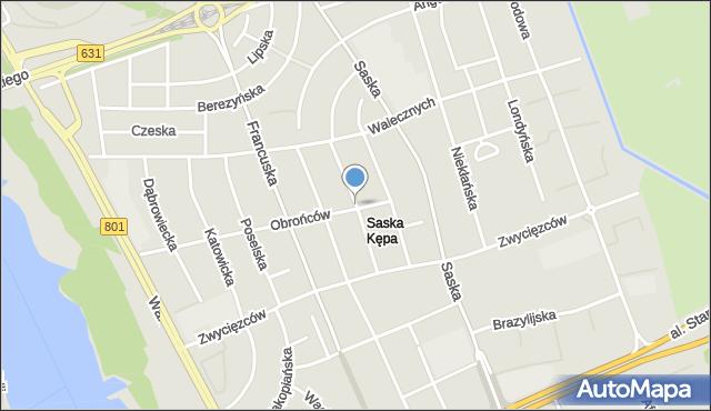 Warszawa, Styki Jana, mapa Warszawy