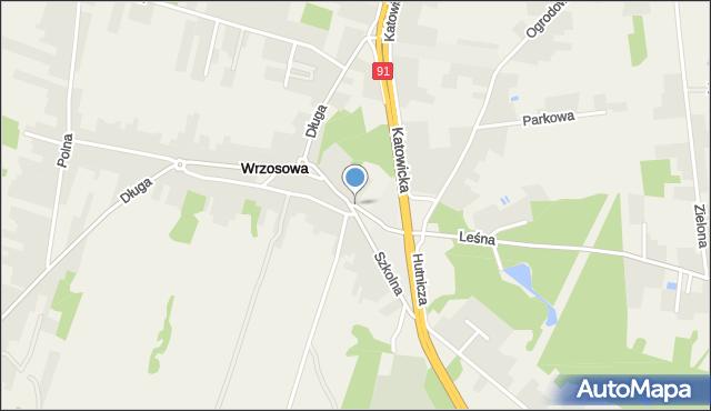 Wrzosowa, Strażacka, mapa Wrzosowa