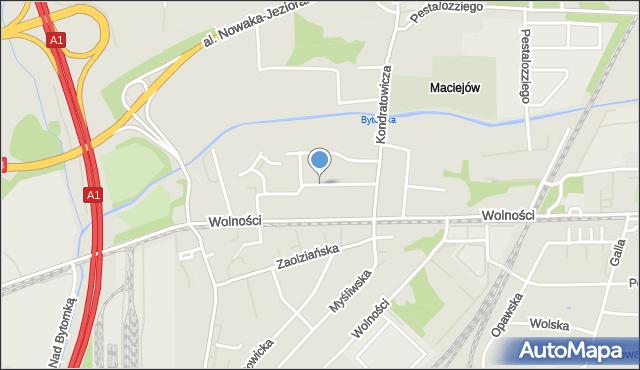 Zabrze, Staropolska, mapa Zabrza