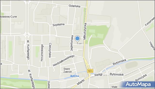 Zabrze, Staszica Stanisława, mapa Zabrza