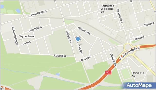Zabrze, Struga Andrzeja, mapa Zabrza