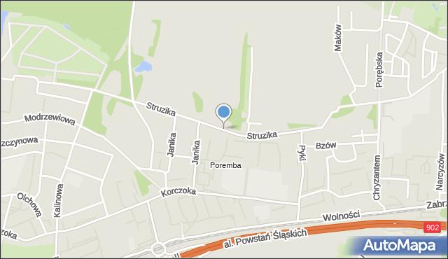 Zabrze, Struzika Stanisława, mapa Zabrza