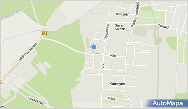 Zabrze, Stara Kolonia, mapa Zabrza