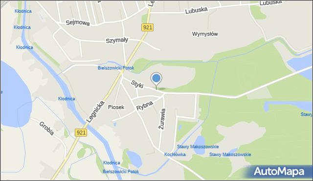 Zabrze, Styki Jana, mapa Zabrza