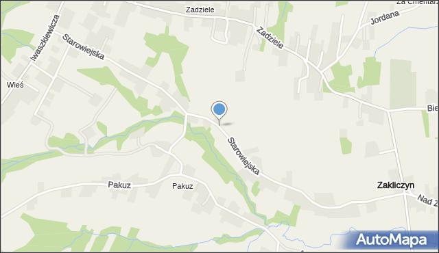Zakliczyn gmina Siepraw, Starowiejska, mapa Zakliczyn gmina Siepraw