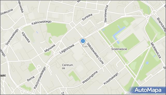 Białystok, Sucha, mapa Białegostoku