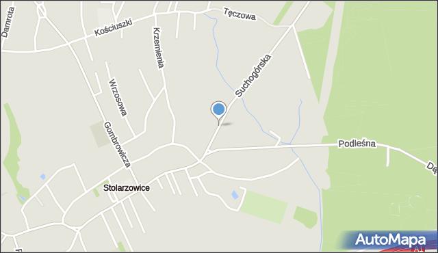 Bytom, Suchogórska, mapa Bytomia