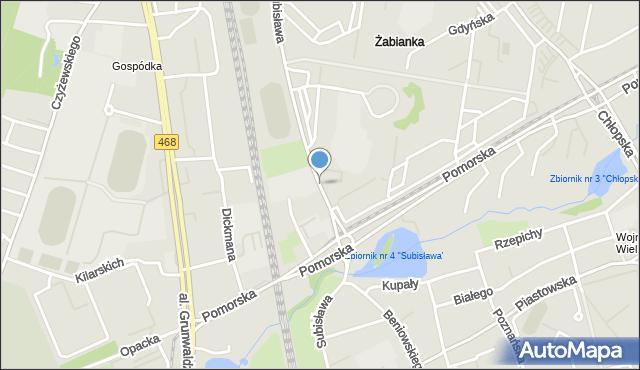 Gdańsk, Subisława, mapa Gdańska