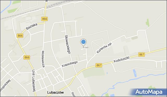 Lubaczów, Sucharskiego Henryka, mjr., mapa Lubaczów