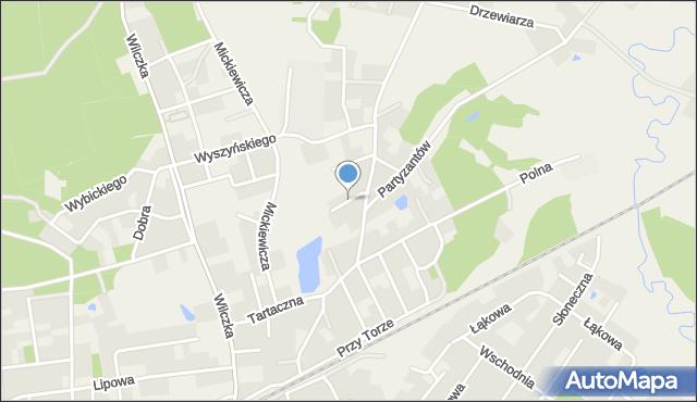 Luzino, Sucharskiego Henryka, mjr., mapa Luzino