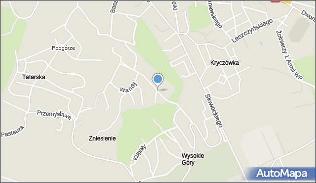 Przemyśl, Sucharskiego Henryka, mjr., mapa Przemyśla