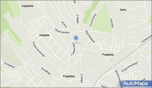 Przemyśl, Sułkowskiego Józefa, mapa Przemyśla