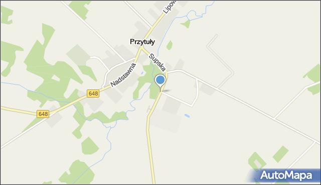 Przytuły powiat łomżyński, Supska, mapa Przytuły powiat łomżyński