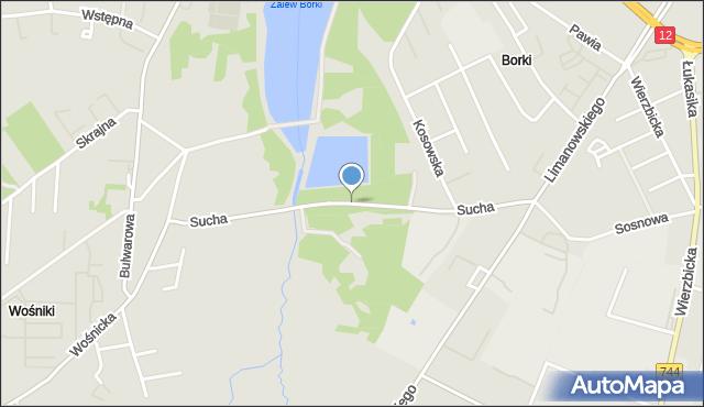 Radom, Sucha, mapa Radomia
