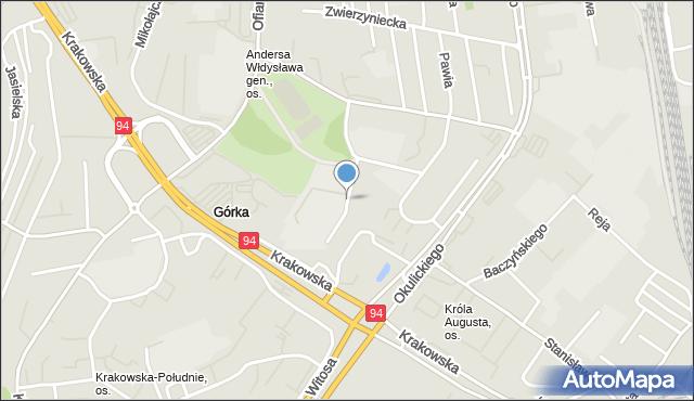 Rzeszów, Sucharskiego Henryka, mjr., mapa Rzeszów