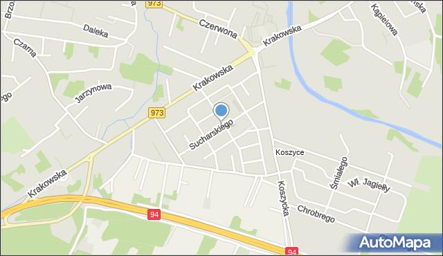 Tarnów, Sucharskiego Henryka, mjr., mapa Tarnów