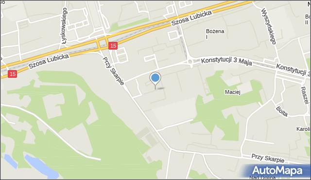 Toruń, Suleckiego Jakuba, mapa Torunia