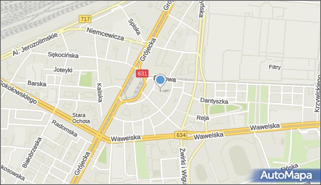 Warszawa, Supińskiego Józefa, mapa Warszawy