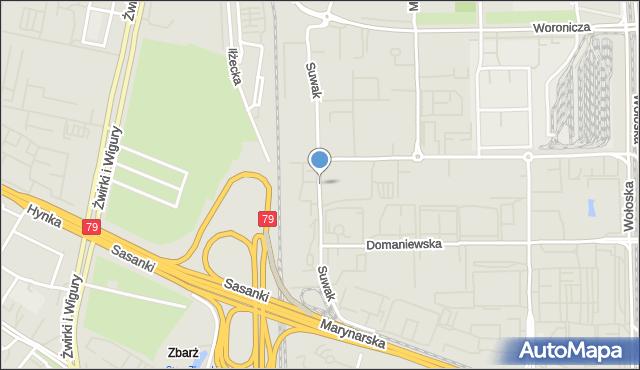 Warszawa, Suwak, mapa Warszawy