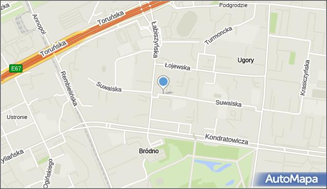 Warszawa, Suwalska, mapa Warszawy