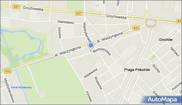 Warszawa, Suchodolska, mapa Warszawy
