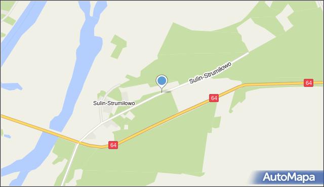 Włochówka, Sulin-Strumiłowo, mapa Włochówka