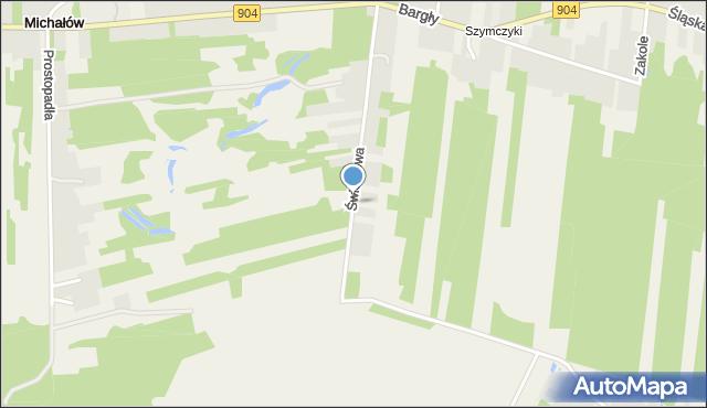 Bargły, Świerkowa, mapa Bargły