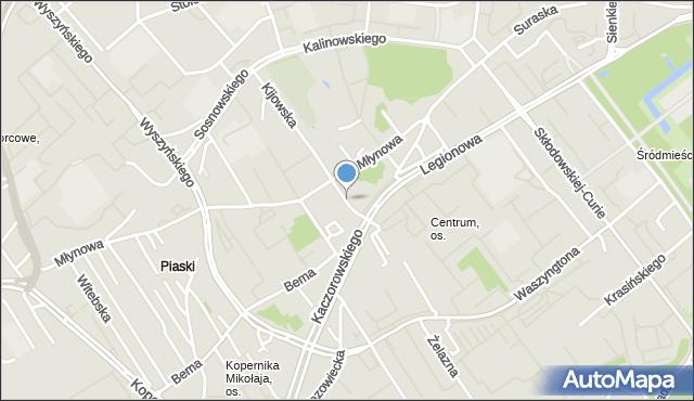 Białystok, św. Anny, mapa Białegostoku