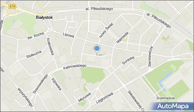 Białystok, św. Mikołaja, mapa Białegostoku