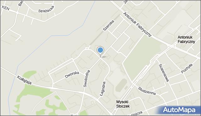 Białystok, Swobodna, mapa Białegostoku