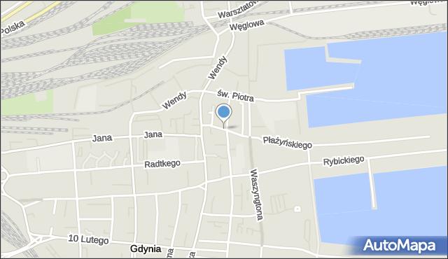 Gdynia, Św. Wojciecha, mapa Gdyni