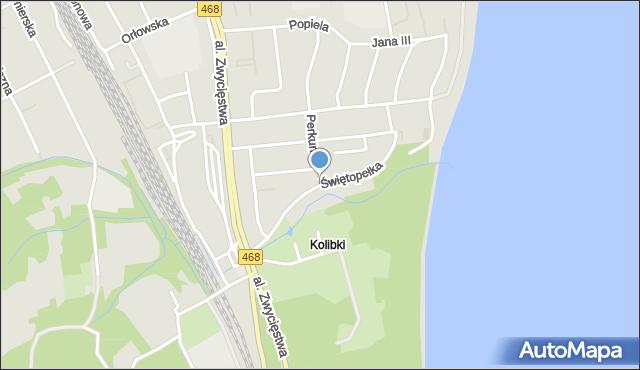 Gdynia, Świętopełka, mapa Gdyni