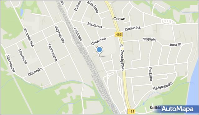 Gdynia, Świerkowa, mapa Gdyni