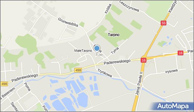 Grudziądz, Świerkocińska, mapa Grudziądza