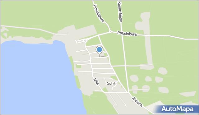 Grudziądz, Świerkowa, mapa Grudziądza