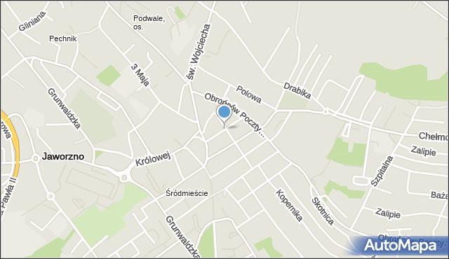 Jaworzno, św. Barbary, mapa Jaworzno