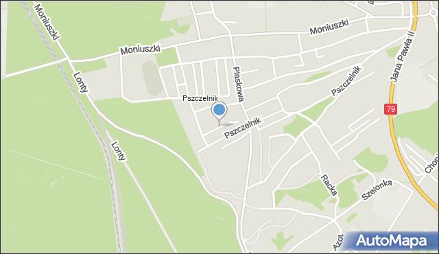 Jaworzno, Świerkowa, mapa Jaworzno