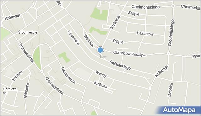 Jaworzno, Świstackiego, mapa Jaworzno