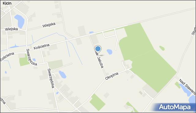 Kicin gmina Czerwonak, św. Jakuba, mapa Kicin gmina Czerwonak