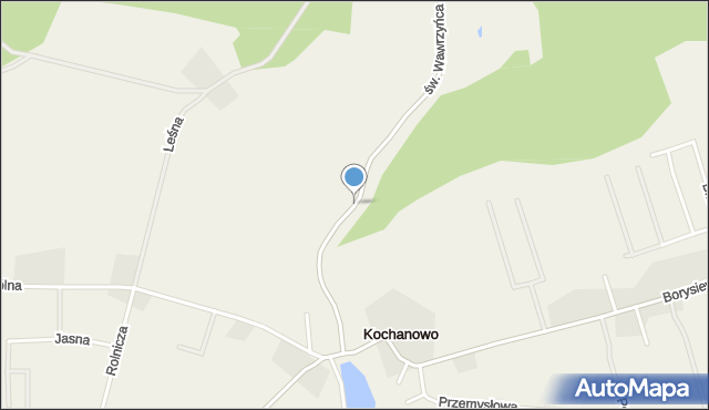 Kochanowo gmina Luzino, św. Wawrzyńca, mapa Kochanowo gmina Luzino