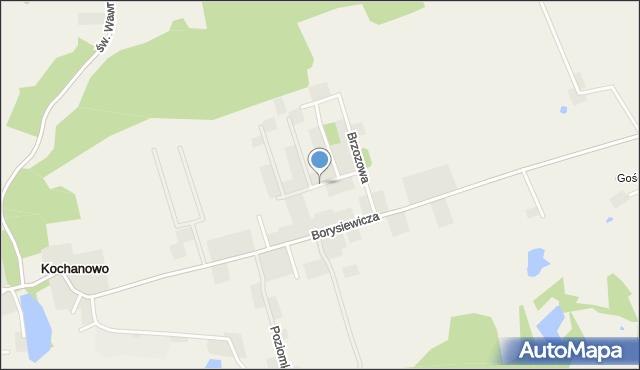 Kochanowo gmina Luzino, Świerkowa, mapa Kochanowo gmina Luzino