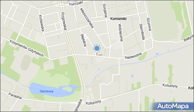 Łódź, Św. Wojciecha, mapa Łodzi