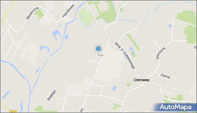 Lubaczów, św. Huberta, mapa Lubaczów