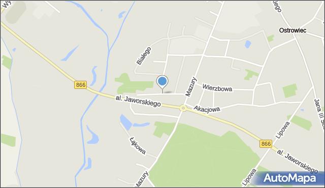 Lubaczów, św. Królowej Jadwigi, mapa Lubaczów