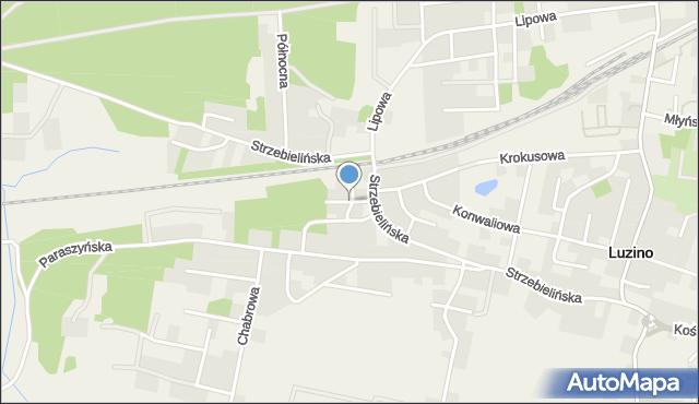 Luzino, Świerkowa, mapa Luzino