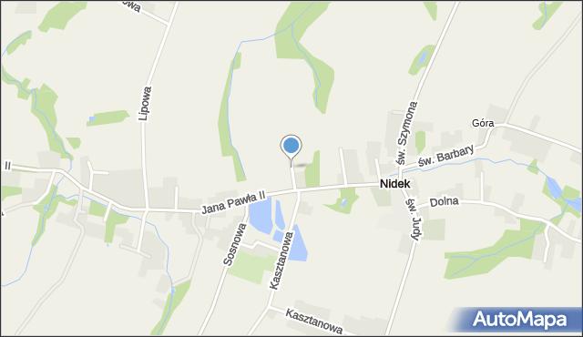 Nidek, św. Floriana, mapa Nidek