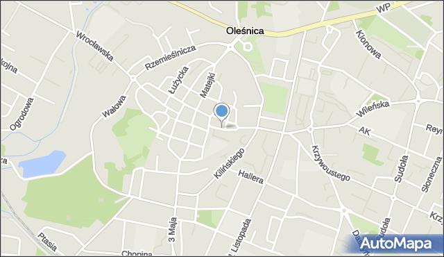 Oleśnica, św. Jadwigi, mapa Oleśnica