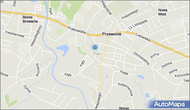 Przeworsk, św. Jana, mapa Przeworsk